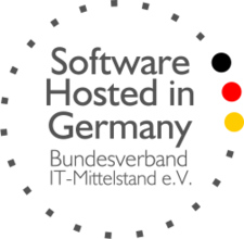 Logo Zertifizierung Software Hosted in Germany | Bundesverband IT-Mittelstand